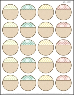 picture about Round Printable Labels referred to as 75 Totally free Printable Labels Deliver it Homemade -