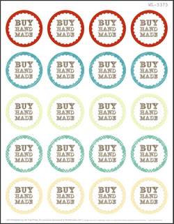 2 Round Free Printable Labels - 20 per sheet