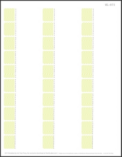 2.625 x 1 Free Printable Labels - 30 per sheet