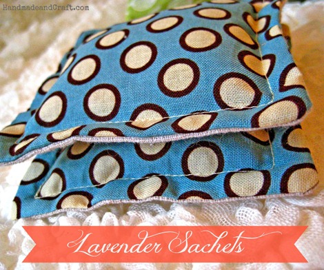 lavender sachet diy on HandmadeandCraft.com