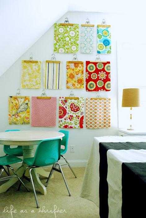 wall of fabric - inspiration