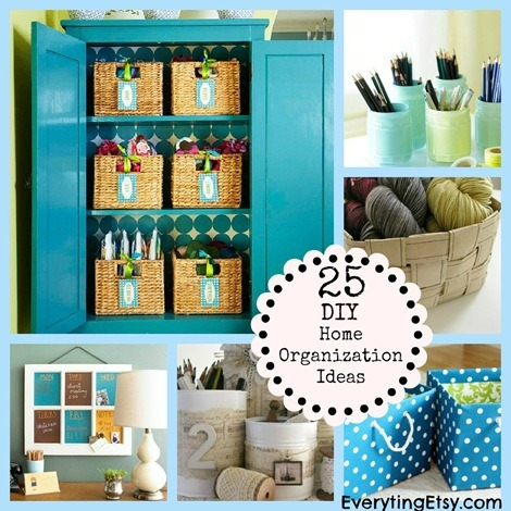 25 Home Organization Ideas {DIY Decor} @EverythingEtsy