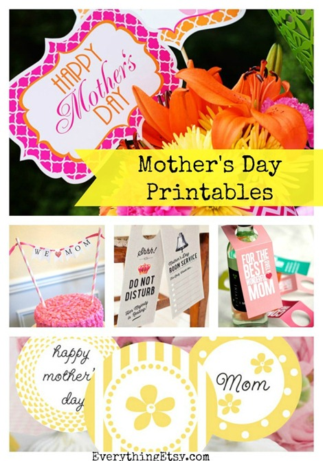 7 Mother's Day Printables on Etsy...print right now! @EverythingEtsy