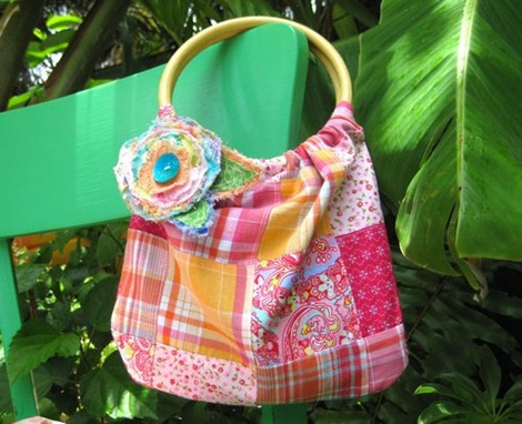 Bamboo Handle Bag Tutorial - 12 DIY Summer Patterns