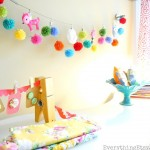 Pom Pom Garland & My Crafty Workspace