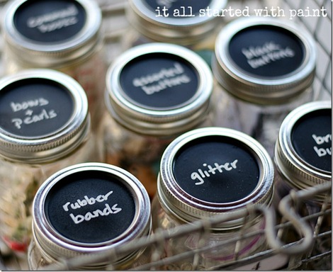 Craft Room Organization - Mason Jars
