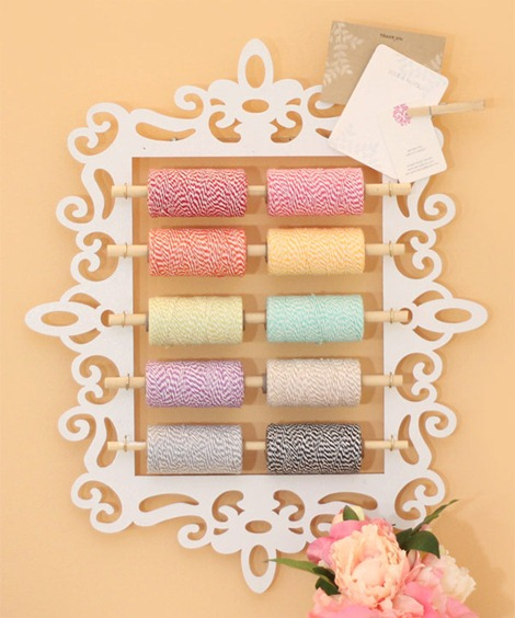 Craft Room Organization - Twine Holder - Damask Love