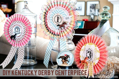 DIY Kentucky Derby Centerpiece Idea