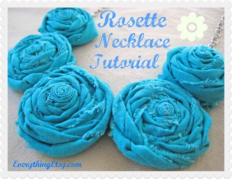 DIY Mother's Day Gift - Fabric Rosette Necklace