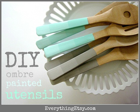 DIY Mother's Day Gift - Ombre Utensils