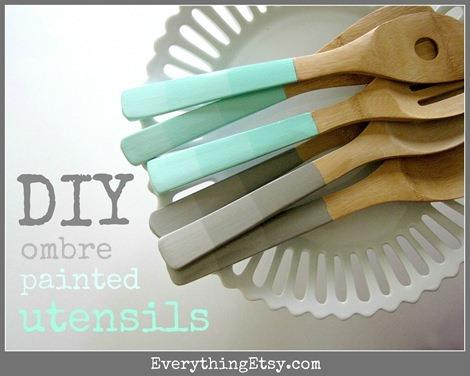 DIY Mother's Day Gift - Ombre Utensils