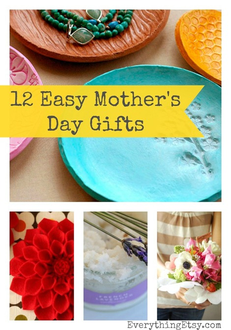 DIY Mother's Day Gifts - 12 Easy Ideas from @EverythingEtsy