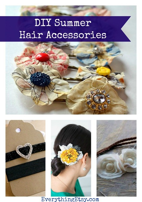 DIY Summer Hair Accessories @EverythingEtsy