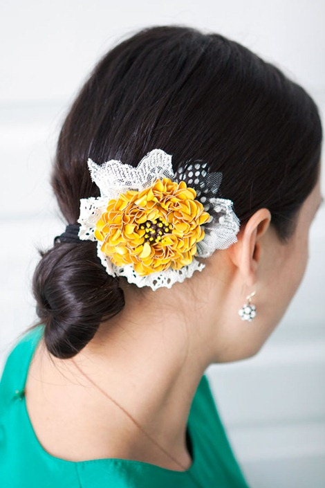 DIY hair accessories - flower power