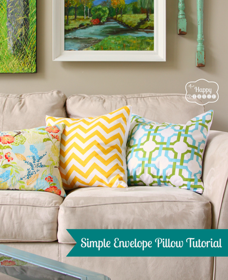 Envelope Pillows - 12 Simple Sewing Patterns for Summer