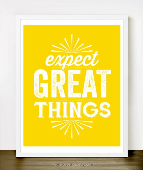Expect Great Things - Inspirational Quotes on Etsy