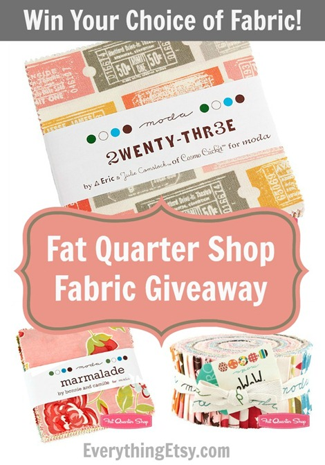 Fat Quarter Shop Fabric Giveaway - Win Your Choice of Fabric @EverythingEtsy