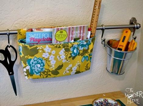 Hanging Fabric Storage Basket - Craft Room Organization