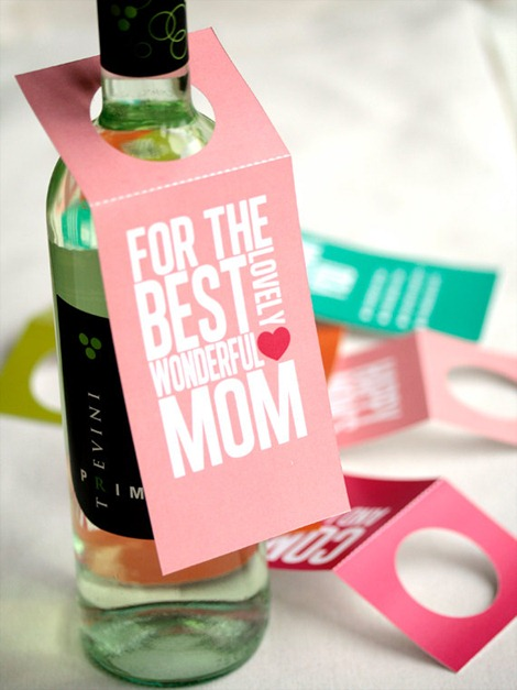 Mother's Day Wine Tags on Etsy