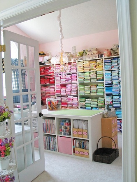 Sewing Room - Fabric Storage Ideas