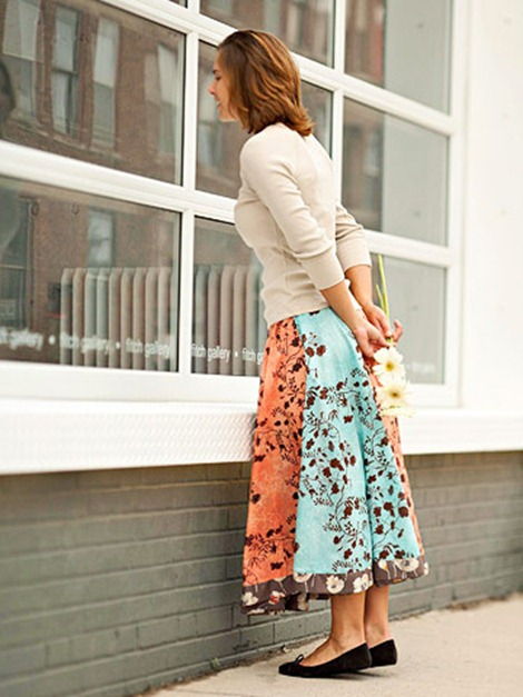 Simple Circle Skirt Pattern for Summer