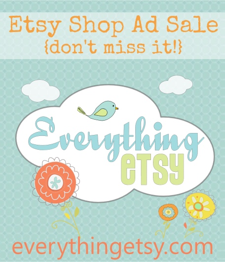 Etsy Shop Ad Sale at EverythingEtsy