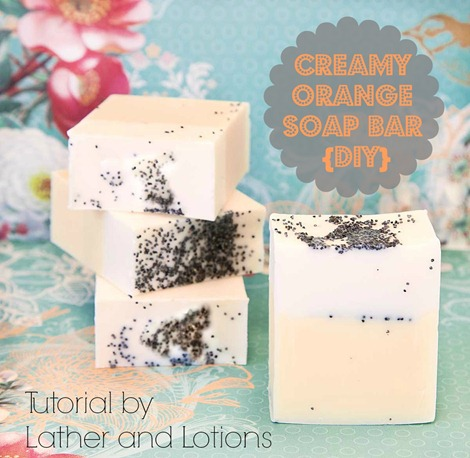 Creamy Orange Soap Bar & Bath Salt {DIY Gift} - Guest Post by Lather and Lotions