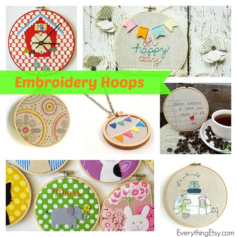 Embroidery Hoops on Etsy