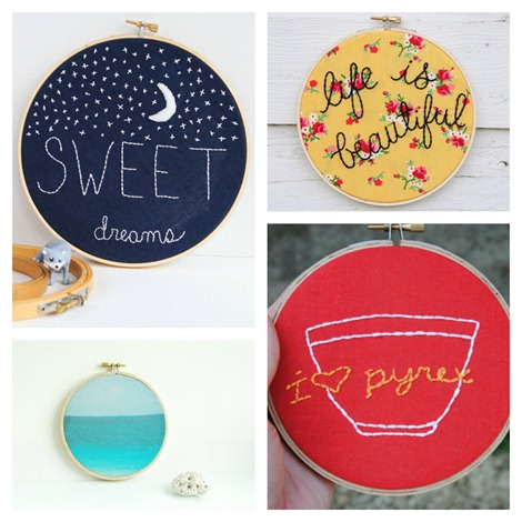 Embroidery Hoops on Etsy {more}