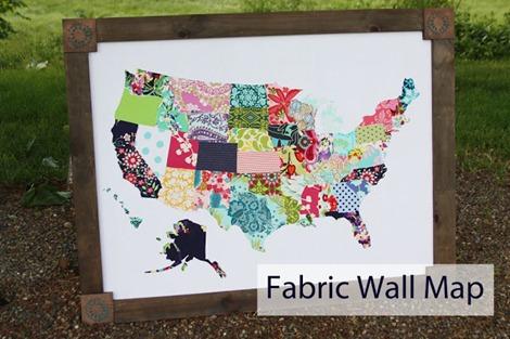 Fabric Wall Map - Travel Craft