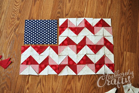 Flag Pillow Tutorial 3