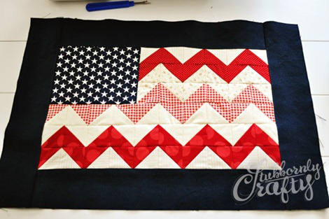 Flag Pillow Tutorial 5