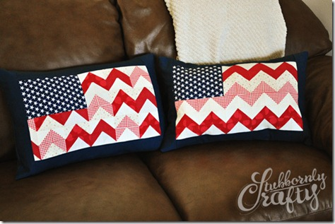 Flag Pillow Tutorial 6
