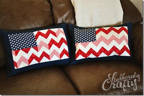 Flag Pillow Tutorial 6