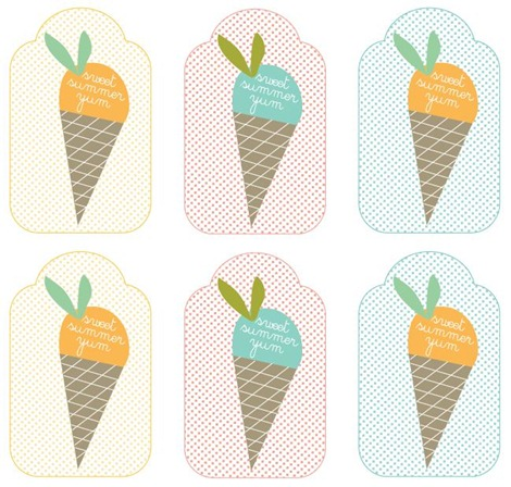Ice Cream Tag Printables
