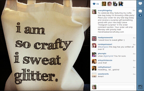 Instagram - HandmadeandCraft on Etsy