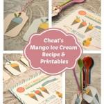 Cheat's Mango Ice Cream Recipe & Printables by The Pretty Blog