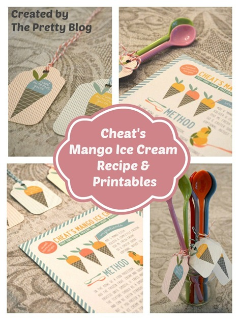Mango Ice Cream Recipe and Tags by The Pretty Blog