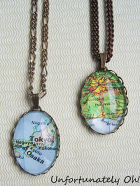 Map Jewelry DIY