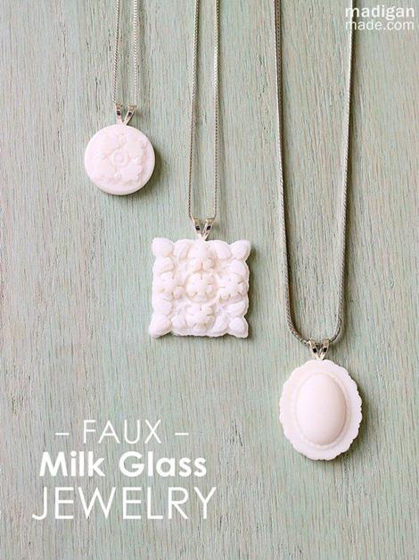 Mod Melts Faux Milk Glass Jewelry - Madigan Made