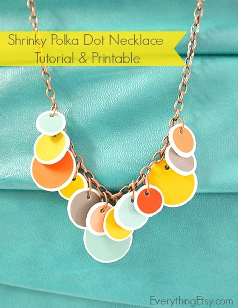 Polka Dot Necklace Tutorial & Printable @EverythingEtsy