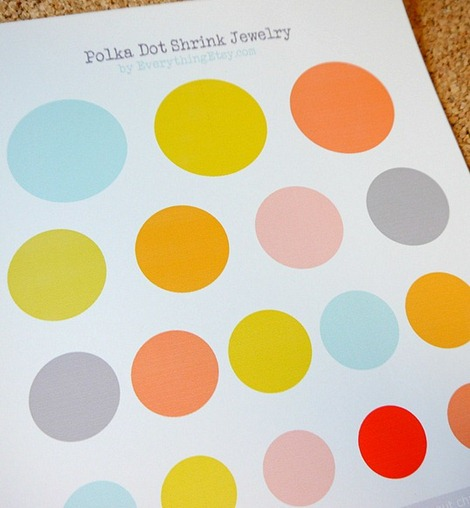 Shrinky Polka Dot Jewelry Printable @EverythingEtsy