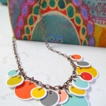 Shrinky Polka Dot Necklace Tutorial & Printable