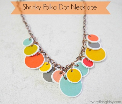 Shrinky Polka Dot Necklace Tutorial & Printable at Everything Etsy