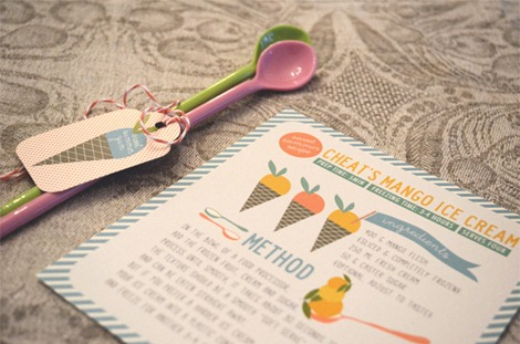 Summer Mango Ice Cream Printable from The Pretty Blog