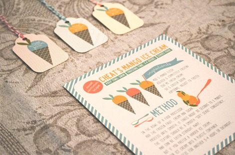 Summer Mango Ice Cream Printables - The Pretty Blog