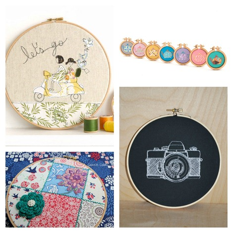 embroidery hoops on Etsy {even more}