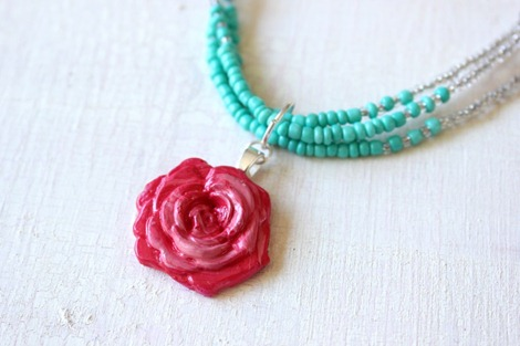 mod melt rose necklace