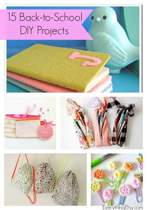 15 Back to School DIY Projects @EverythingEtsy