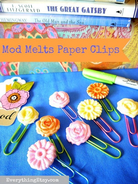 Back to School - DIY Paper Clips - Mod Melts Tutorial